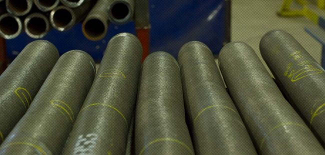 Detail of inconel overlay