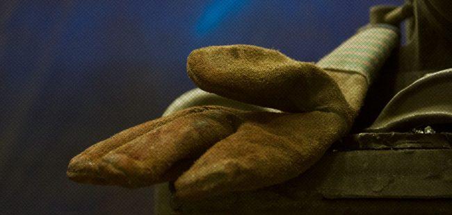 Detail of work glove